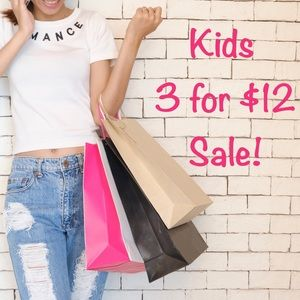 Kids 🔹3 for $12🔹 Sale